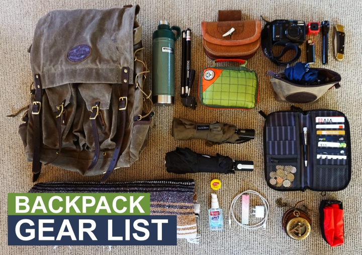 Backpack Gear List: Auckland,NZ